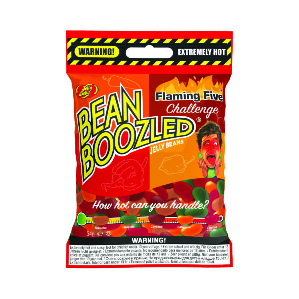 alt= emballage des bean boozled flaming five challenge