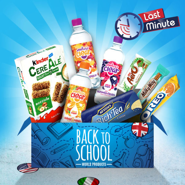 Pack Back to School d'American Products avec Kinder McVitie's Perfectly Clear Oreo Milky Way